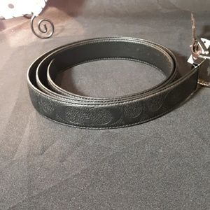 Coach Women's Black Reversible Embossed Belt